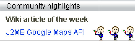 J2ME Google Maps API Article of the Week