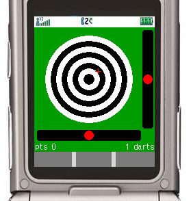 J2ME game darts screenshot