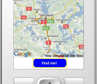 FlashLite KuneriLite Google Maps application screenshot